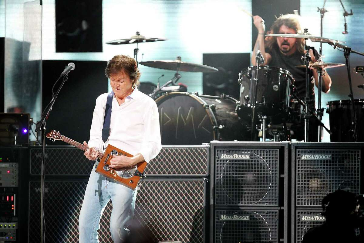 No Kurt Cobain. But there was Sir Paul.  (AP Photo/Starpix, Dave Allocca)