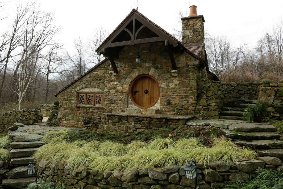 """Shown is an exterior view of the """"Hobbit House"""" Tuesday, Dec. 11, 2012, in Chester County, near Philadelphia. Architect Peter Archer has designed a """"Hobbit House"""" containing a world-class collection of J.R.R. Tolkien manuscripts and memorabilia."""