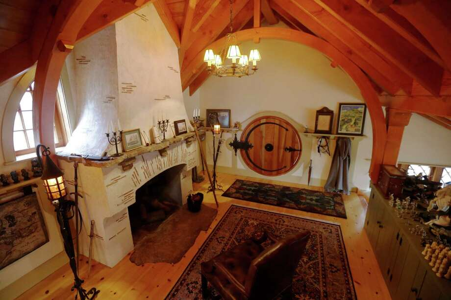 "Shown is an Interior view of the ""Hobbit House"" Tuesday, Dec. 11, 2012, in Chester County, near Philadelphia. Architect Peter Archer has designed a ""Hobbit House"" containing a world-class collection of J.R.R. Tolkien manuscripts and memorabilia. Photo: Matt Rourke, AP / AP"