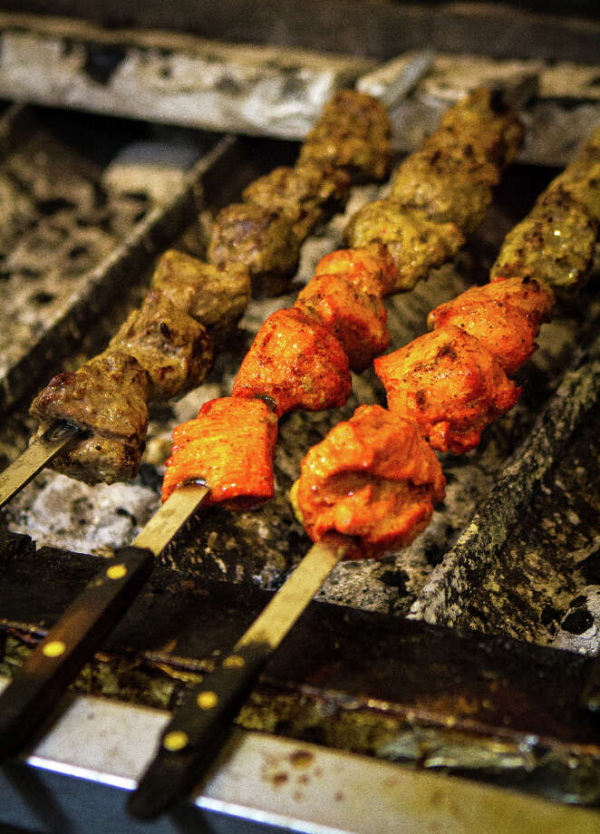 Kabobs being grilled. Photo: John Storey, Special To The Chronicle / John Storey
