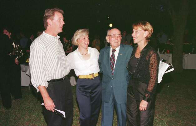 Frank Billingsley, Celeste Reavis, Army Emmott and Ann Laws at a benefit in 1998.  Photo: Bruce Bennett / Freelance
