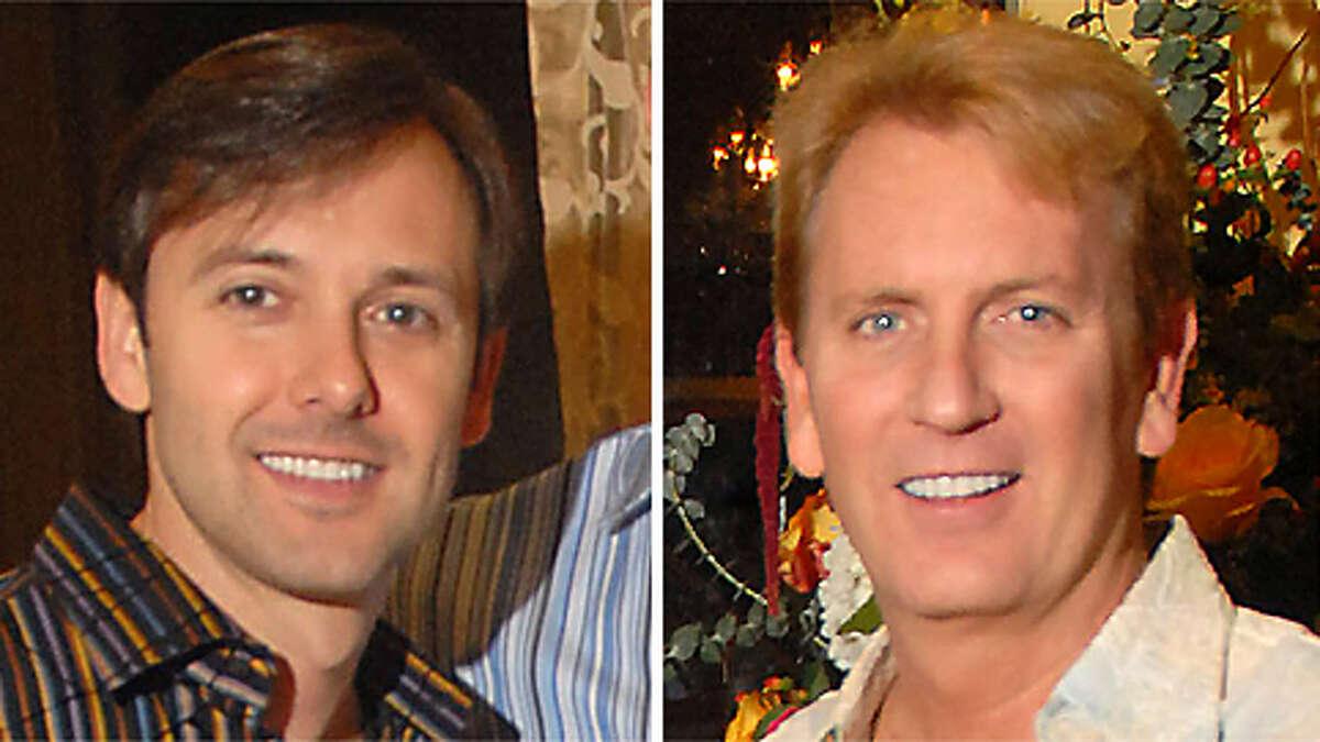 Kevin Gilliard, left, married KPRC (Channel 2) meteorologist Frank Billingsley on Wednesday in New York City.