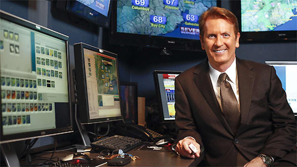 KPRC Local 2 Chief Meteorologist Frank Billingsley in his Houston office.
