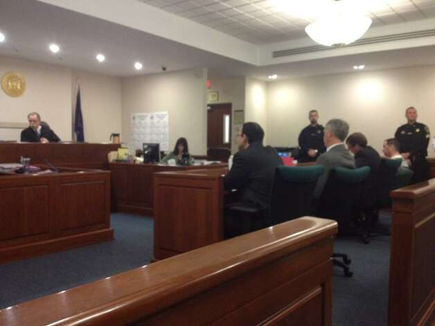 Steven McComsey is sentenced in Washington County Court for negligent homicide for a house blast that killed six in Salem in 2011. (John Carl D'Annibale/Times Union)
