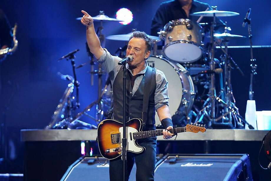 Bruce Springsteen performs at 12-12-12: The Concert for Sandy Relief on Wednesday at New York's Madison Square Garden. Photo: Dave Allocca, Associated Press