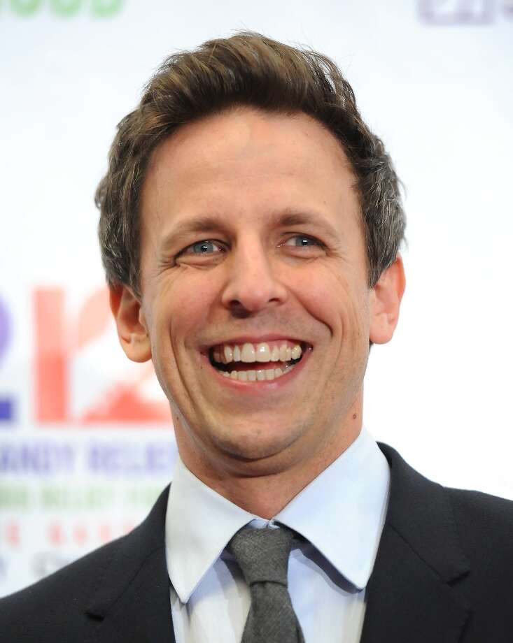 Seth Meyers poses backstage at 12-12-12 The Concert for Sandy Relief at Madison Square Garden on Wednesday Dec. 12, 2012 in New York. (Photo by Evan Agostini/Invision/AP) Photo: Evan Agostini, Evan Agostini/Invision/AP / Invision2012
