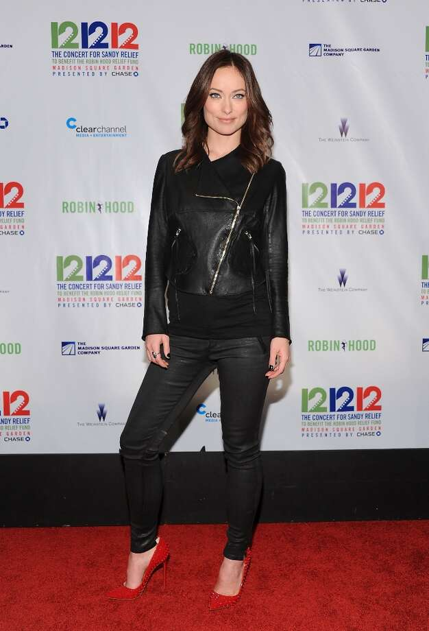 Actress Olivia Wilde poses backstage at 12-12-12 The Concert for Sandy Relief at Madison Square Garden on Wednesday Dec. 12, 2012 in New York. (Photo by Evan Agostini/Invision/AP) Photo: Evan Agostini, Evan Agostini/Invision/AP / Invision2012