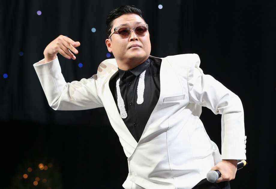Singer PSY performs onstage during KIIS FM's 2012 Jingle Ball at Nokia Theatre L.A. Live on December 3, 2012 in Los Angeles. (Christopher Polk / Getty Images)