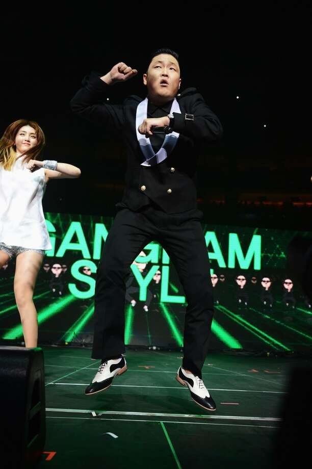 PSY performs onstage during Q102's Jingle Ball 2012 presented by XFINITY, at Wells Fargo Center on December 5, 2012 in Philadelphia.  (Getty Images)
