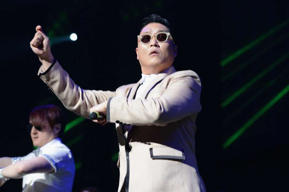 PSY performs onstage during the Y100's Jingle Ball 2012 at the BB&T Center on December 8, 2012 in Miami.  (Getty Images)