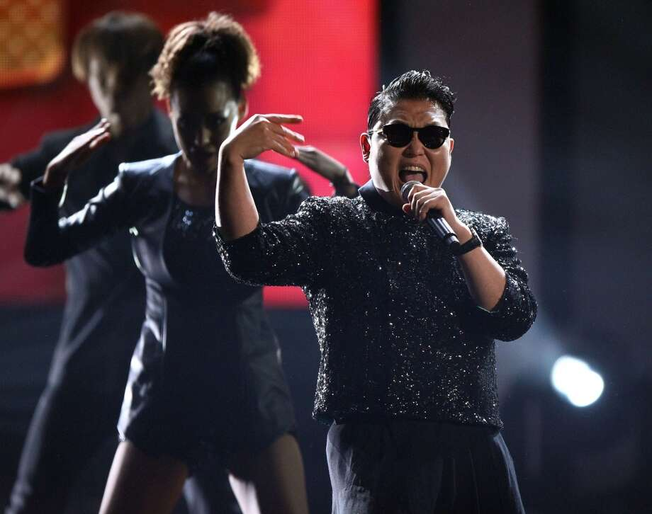 "PSY performs ""Gangnam Style"" at the 40th Anniversary American Music Awards on Sunday, Nov. 18, 2012, in Los Angeles. (Associated Press)"