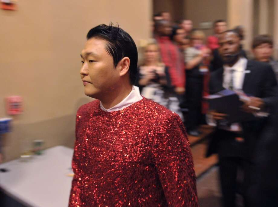 South Korean performer PSY is seen backstage before the taping of the Christmas in Washington television special on December 9, 2012. (AFP/Getty Images)