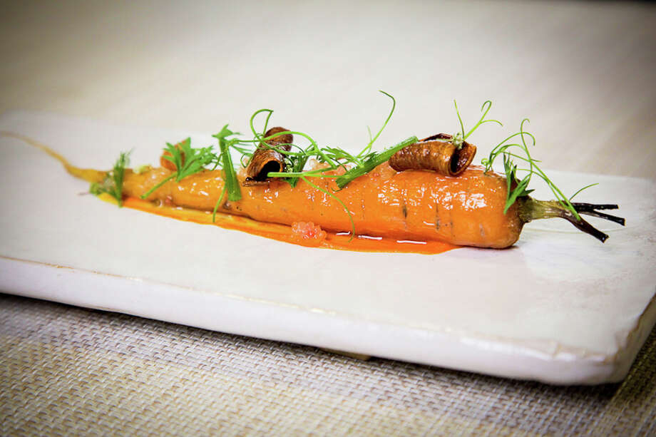 Second course: A single carrot. (Creel Films)