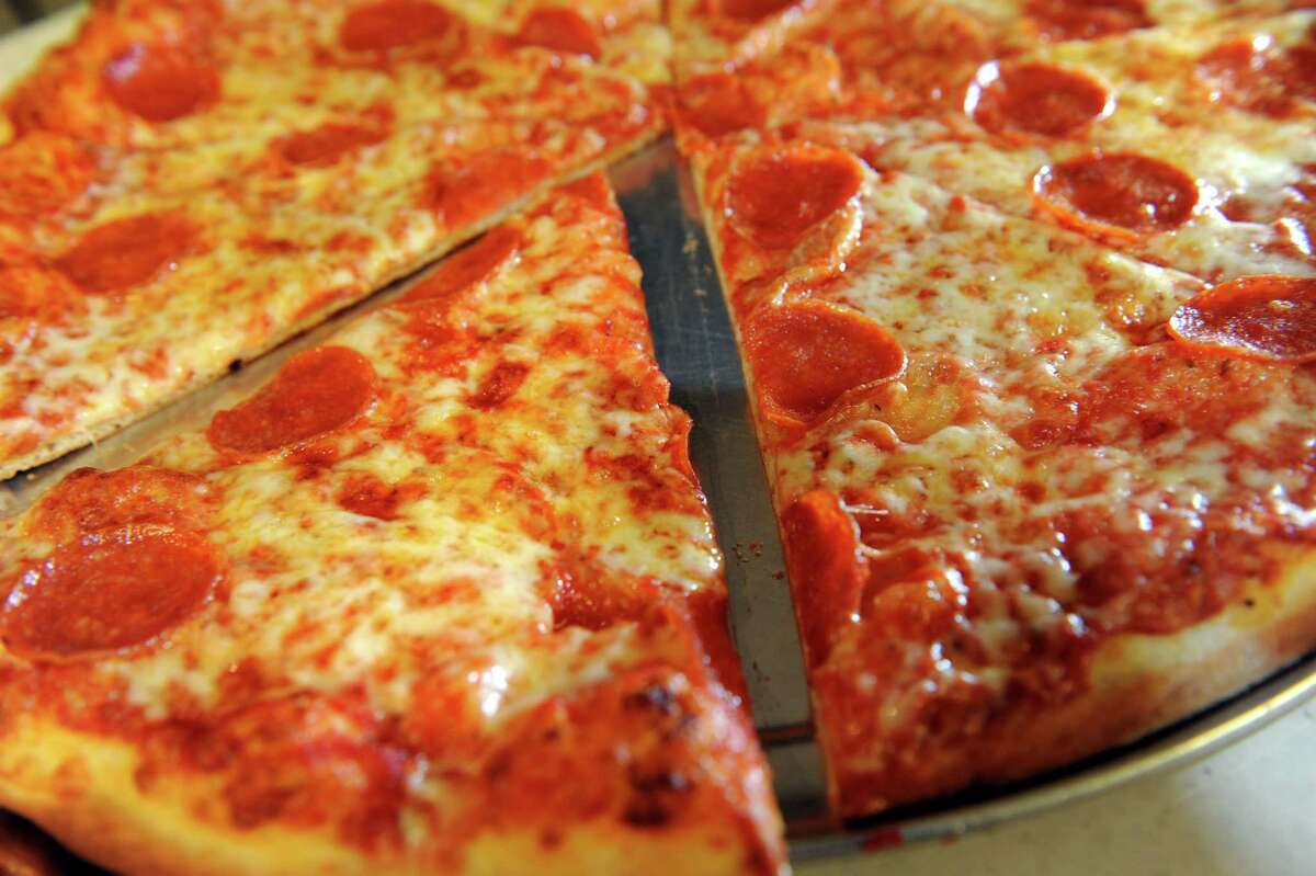 Pepperoni pizza on Tuesday, Dec. 11, 2012, at Pizza Works in Saratoga Springs, N.Y. (Cindy Schultz / Times Union)