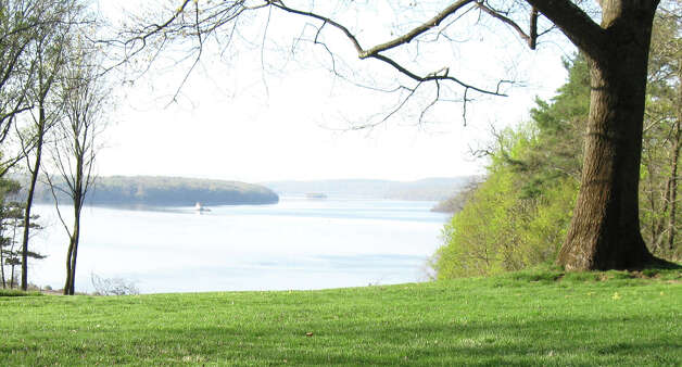 A view of the Hudson River from the south lawn of Wilderstein.