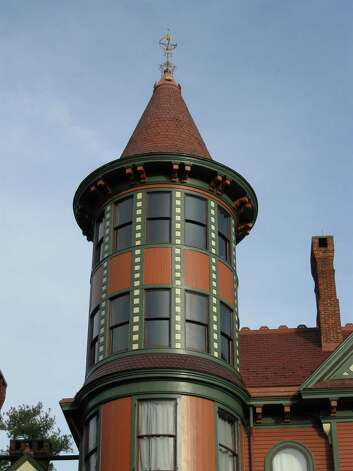 Wilderstein's tower, part of its Queen Anne style.