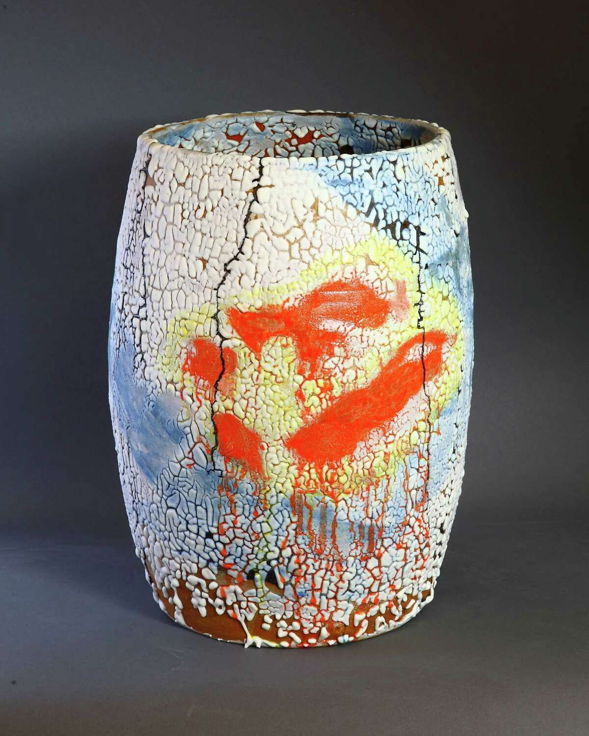 New works such as this piece by ceramic artist Phyllis Savage will be on display through Christmas Eve at her studio and gallery at 93 Mill Plain Road in Danbury.