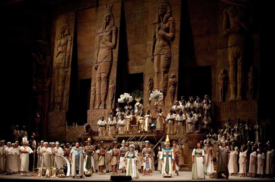 "Pictured is a scene from the Metropolitan Opera's production of Giuseppe Verdi's ""Aida,"" to be broadcast at Fairfield UniversityâÄôs Quick Center in HD at 1 p.m. (live) and 6:30 p.m. (encore) on Saturday, Dec. 15, as part of ""The Met: Live in HD"" program. Photo: Marty Sohl, Contributed Photo/Marty Sohl / © 2009 Marty Sohl/Metropolitan Opera"