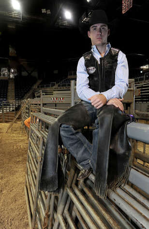 A $57,000 winner at the Houston Fat Stock Show, Beau Schroeder will perform at the YMBL Rodeo on Friday.Schroeder began his career riding calves at 5 years old. Photo taken Monday, March 26, 2012 Guiseppe Barranco/The Enterprise Photo: Guiseppe Barranco, STAFF PHOTOGRAPHER / The Beaumont Enterprise
