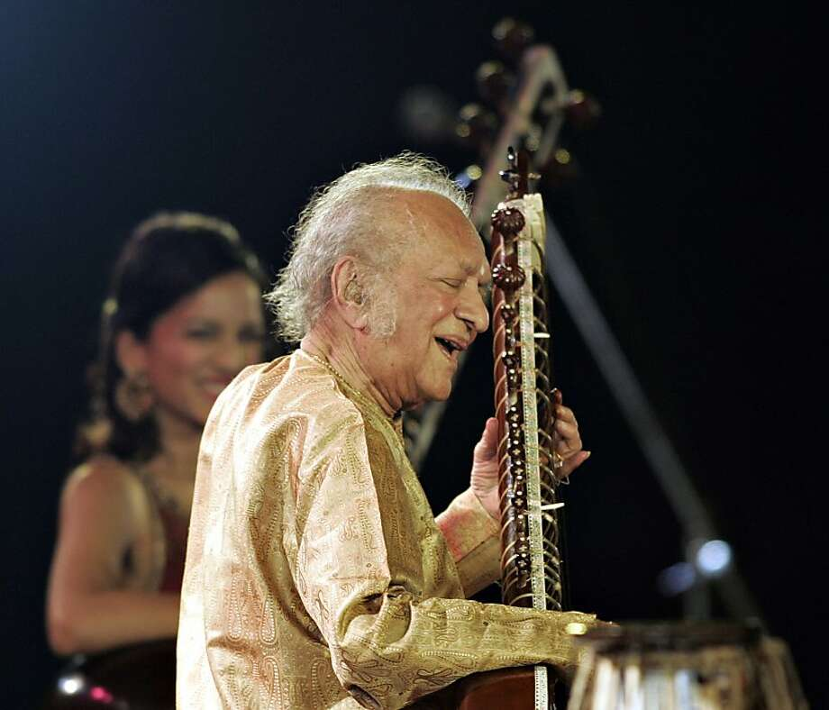 Sitar maestro Ravi Shankar died Tuesday at the age of 92. Photo: Deshakalyan Chowdhury, AFP/Getty Images