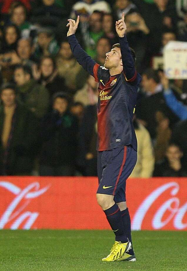 Lionel Messi has celebrated 88 goals this year in all competitions. Photo: Angel Fernandez, Associated Press