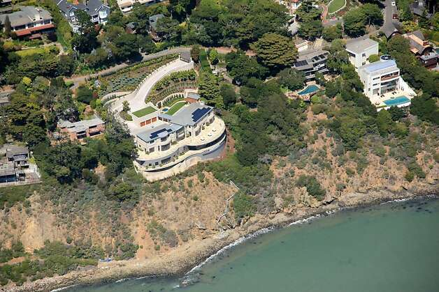 Villa Belvedere, a waterfront home in Belvedere, is listed for $39 million and was the 2012 Marin Designer Showcase home. It looks out onto San Francisco and the Golden Gate Bridge and is nearly 10,000 square feet and was designed by architect Sandy Walker. Photo: Matt McCourtney
