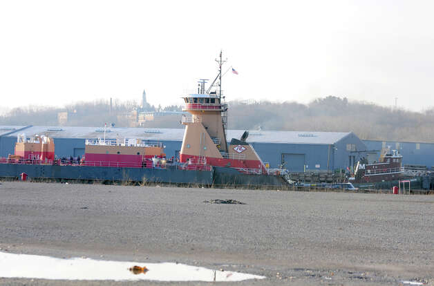 A ship leaves the Port of Albany Thursday Dec. 13, 2012 in Albany, N.Y. Photo taken from the Rensselaer side of the Hudson River. (Lori Van Buren / Times Union) Photo: Lori Van Buren