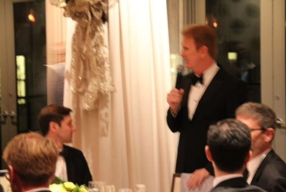 Billingsley addresses the guests. (Photo courtesy of KPRC-Channel 2)
