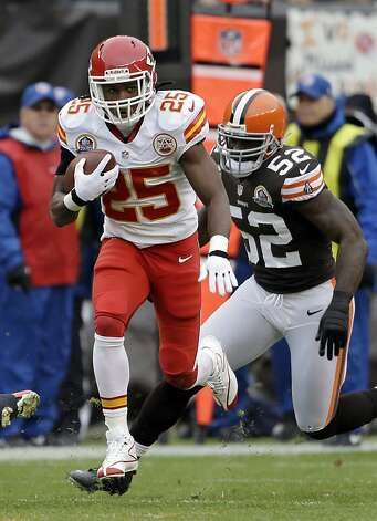 Jamaal Charles has been focused and productive through the pain. Photo: Mark Duncan, Associated Press