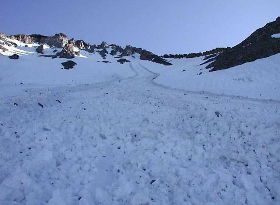Avalanche centers at Mount Shasta and elsewhere in California are warning skiers to exercise caution after avalanches this week killed two people, a snowboarder and a ski-patrol member. Photo: Courtesy Photo, Mount Shasta Avalanche Center