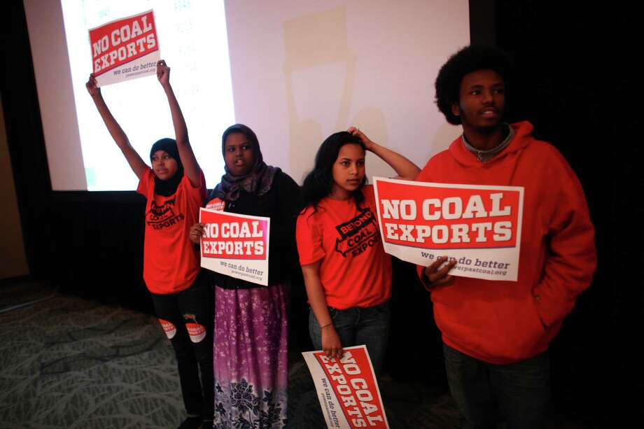 Students prepare to take the stage during a scoping meeting about the proposed Cherry Point coal export terminal in Whatcom County. Photo: JOSHUA TRUJILLO / SEATTLEPI.COM