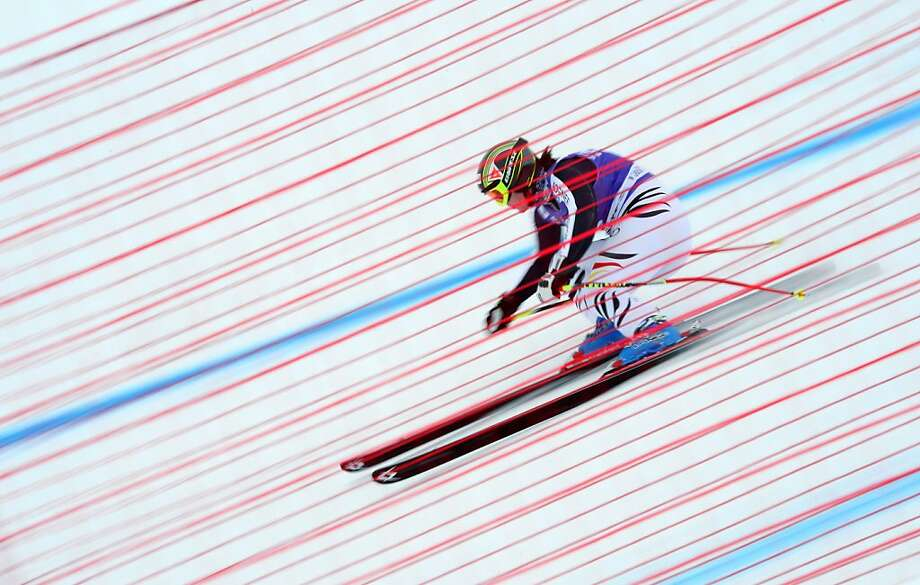 Gina Stechert of Germany skis during the women's downhill training of the FIS Ski World cup, on December 13, 2012 in Val d'Isere, French Alps. Photo: Franck Fife, AFP/Getty Images