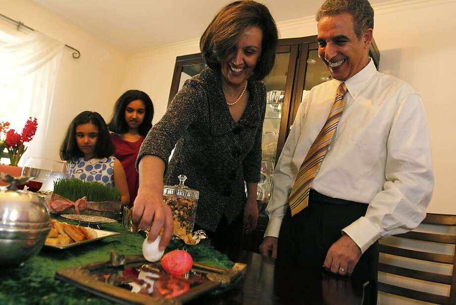"A family gathers to celebrate Nowruz, the Persian new year, in the PBS documentary ""The Iranian Americans."" Photo: PBS"