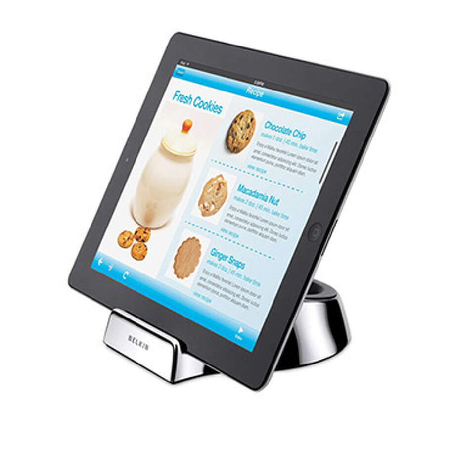 Belkin Kitchen Stand and Wand for TabletsTablets like the iPad and Kindle Fire make great kitchen companions. They can serve as infinitely expansive digital cookbooks, complete with video instructions, or be used to stream news and TV shows. The trouble is, these pricey devices aren't naturally at home in the kitchen. To rectify this, mom can prop her tablet up on the Belkin Kitchen Stand and use the accompanying stylus to keep the touchscreen free of turkey grease. Photo: Contributed Photo