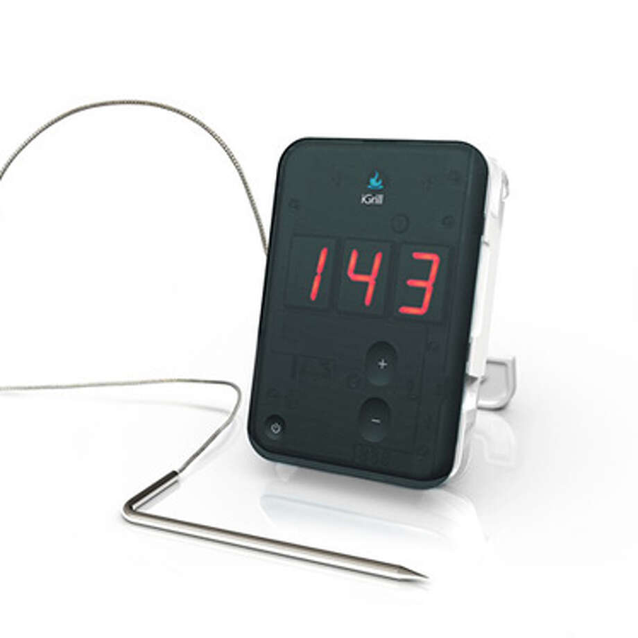iGrill Bluetooth Oven ThermometerAnalog meat thermometers might not be completely dead, but the iGrill is just cool. It's a digital thermometer connected to a Bluetooth-enabled device that can communicate with her iOS or Android device. The iGrill app lets her set a timer, view the current temperature in the oven, and look up recipes online. Photo: Contributed Photo