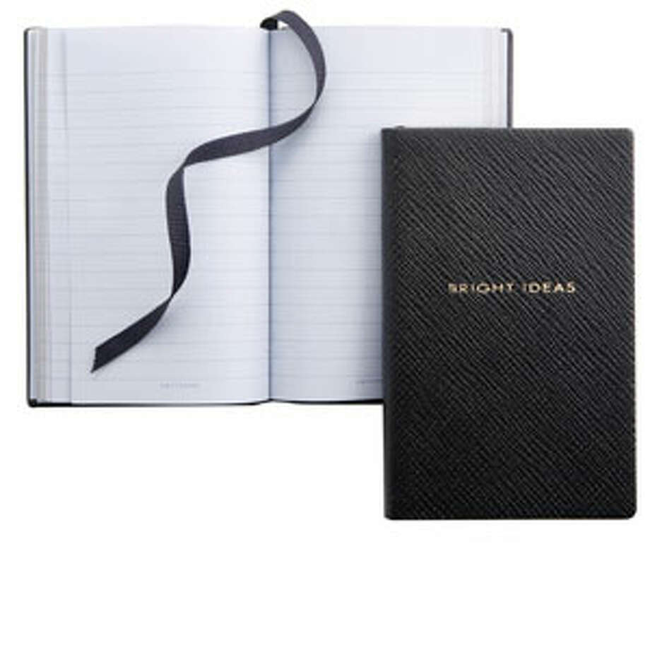 "A NotebookBecause if you're going to cross things off your to-do list, you need a piece of paper.Navy ""Bright Ideas"" notebook ($60) by Smythson of Bond Street, smythson.com Photo: Contributed Photo"