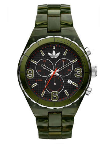 A WatchFor a younger man, green is a great way to draw attention toward the wrist.Translucent Cambridge chronograph watch ($95) by Adidas, nordstrom.com Photo: Contributed Photo