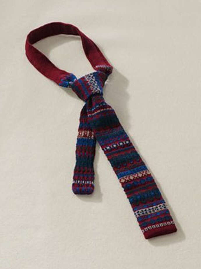 A TieUp this standard gift's ante in a seasonally-appropriate Fair Isle.Canvas knit Fair Isle tie ($79.50) by Lands End Canvas, canvas.landsend.com Photo: Contributed Photo
