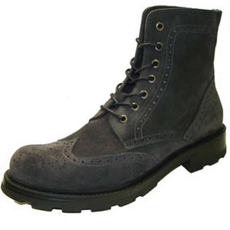 A New Pair of BootsAt this price, it's fine if the snows messes them up.Harbor dark grey 7 eyelet wingtip lug sole boot ($90) by GBX, gbxshoe.com Photo: Contributed Photo