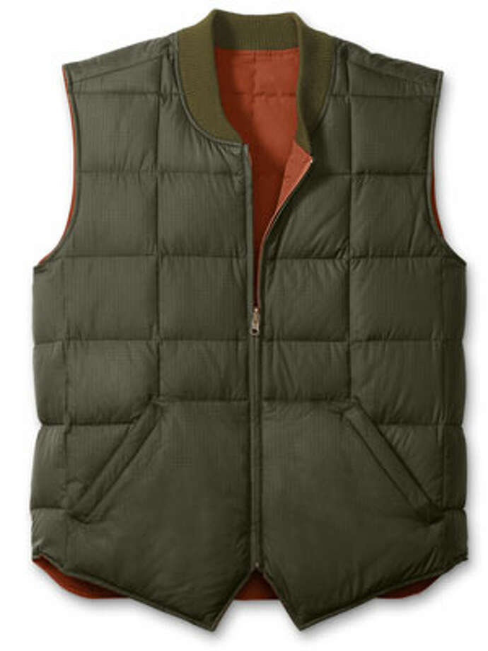 A VestIt's the kind of thing a man won't buy for himself, and it's easier to figure out than, say, an entire coat.Reversible Downlight Canadian Vest ($99) by Eddie Bauer, eddiebauer.com Photo: Contributed Photo