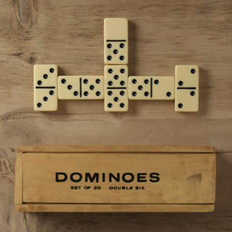 A (Real) GameBecause electronic controls are for kids.London pub dominos ($49) by Restoration Hardware, restorationhardware.com Photo: Contributed Photo