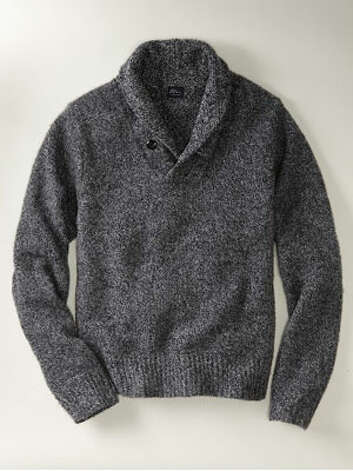 A Shawl-Collar SweaterThe slightly warmer antidote to a closet full of crewnecks.Lambswool Shawlneck Sweater ($99) by L.L. Bean Signature, llbean.comMore: 10 Holiday Gadgets Your Son Wants Photo: Contributed Photo