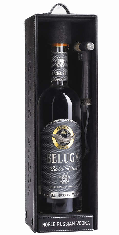 Non-Whiskey Drinkers:The Fancy Vodka-Drinking BossThere are people who like their naked alcohol dressed up in a little lingerie, so to speak. Beluga Gold vodka ($200), from Russia, is not only clean and smooth, but, with its black leather box and pewter-encrusted bottle, is all dressed up for Fifty Shades of Tipsy. Photo: Contributed Photo