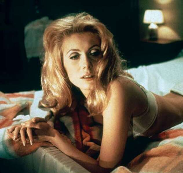 Catherine Deneuve -- seen here in her youthful heyday, though I like her even better as an older wom