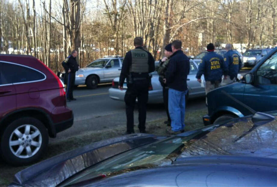 State police are responding to multiple shootings at Sandy Hook Elementary School in Newtown, Conn. on Dec. 14, 2012, according to reports. All schools in town are locked down. Photo: Labor Jany / The News-Times