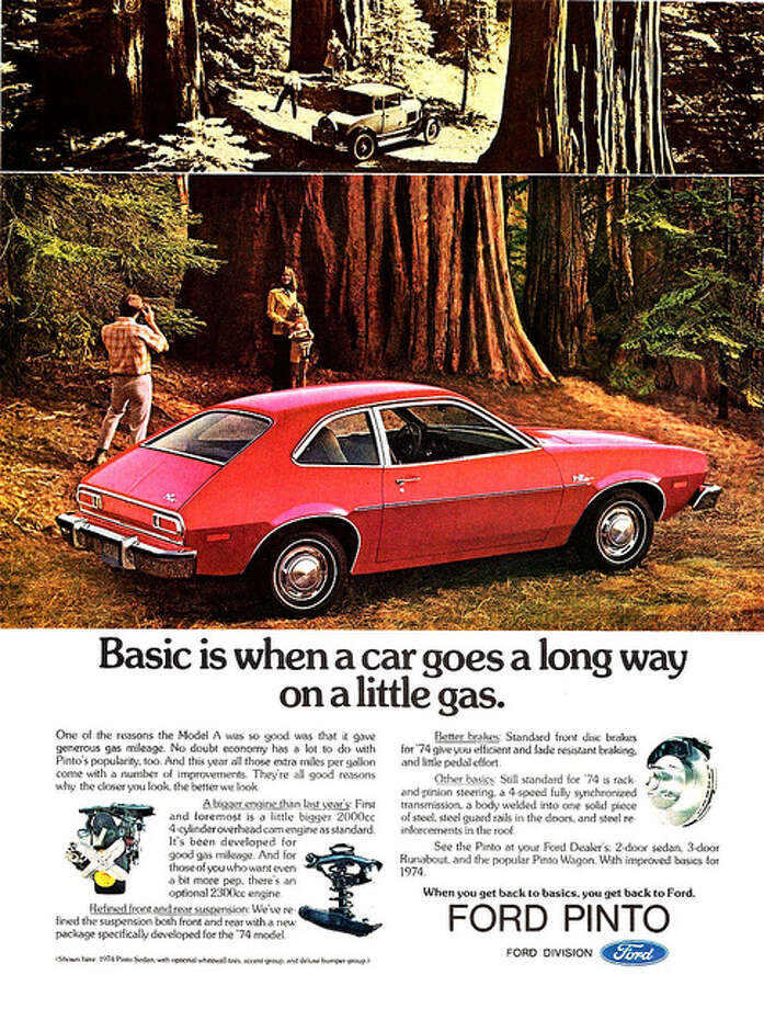 "The car: Ford Pinto. The problem: gas tank that exploded in rear-end collisions. What Bey said: ""Ford's reported awareness and sluggish response to the issue only sealed the car's fate as one of the top 10 deadliest car designs."" aldenjewell/Flickr Creative Commons"