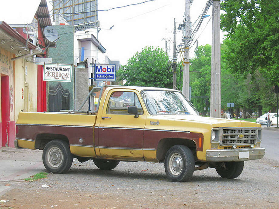 "The car: 1970s Chevrolet pickups. The problem: side-mounted fuel tanks. What Bey said: ""Nail these trucks behind the cab and they could very easily go boom."" papurojugarpool/Flickr Creative Commons"