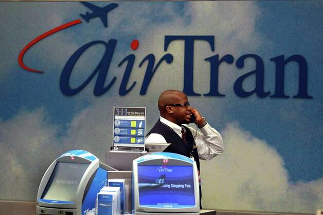 7. AirTran Airways, 4 percent. This low-cost carrier finished just ahead of the company that bought it in 2010. That would be ... Photo: Joe Raedle, Getty Images / 2010 Getty Images
