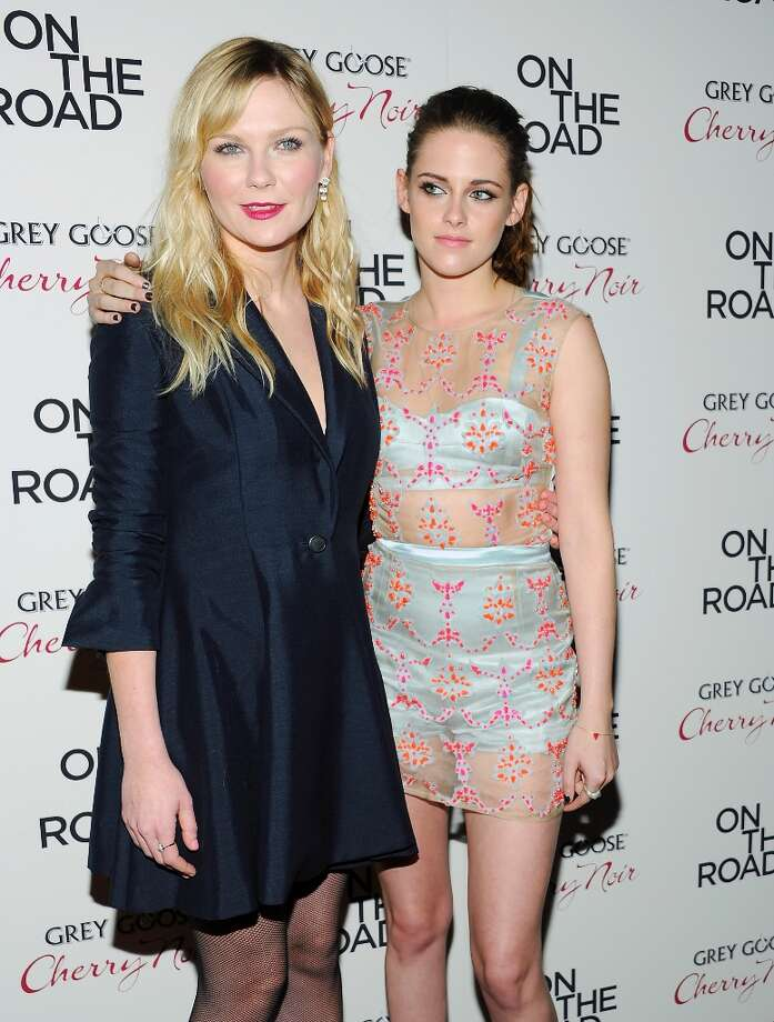 Actors Kirsten Dunst, left, and Kristen Stewart attend the premiere of On The Road at the SVA Theater on Thursday Dec. 13, 2012 in New York. (Photo by Evan Agostini/Invision/AP) Photo: Evan Agostini, Associated Press / Invision
