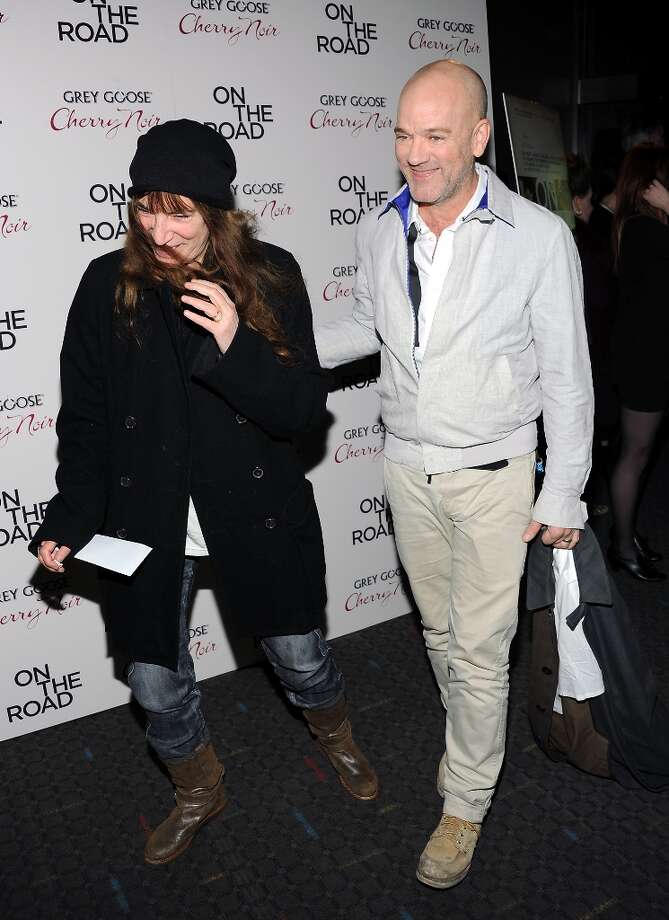Singers Patti Smith and Michael Stipe attend the premiere of On The Road at the SVA Theater on Thursday Dec. 13, 2012 in New York. (Photo by Evan Agostini/Invision/AP) Photo: Evan Agostini, Associated Press / Invision